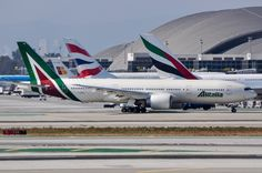 Alitalia 777-200ER wearing the new livery at LAX on June 25, 2016