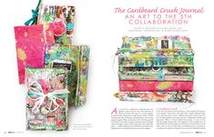I designed this issue of Art Journaling, Summer 2015, as the lead graphic designer for Stampington & Company.