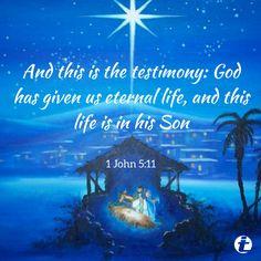 Christmas Scripture, John 5, O Holy Night, Birth Of Jesus, Good News, Merry Christmas, Xmas, Christian, God