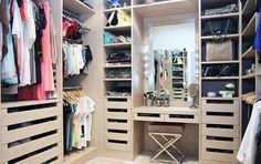 I like the retail drawers and the idea of a mirror/Makeup Station haha in the closet