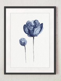 Conjunto de flor Marina de 4 láminas. Decoración de pared azul de flores de peonía. Abstracto acuarela minimalista. Impresión del arte del salón amarillo. Cartel de sala vivero. Un precio es para el conjunto de 4 diferentes láminas de peonía, como se muestra en la primera foto. Tipo de papel: Impresiones hasta (42 x 29, 7cm) 11 x 16 pulgadas tamaño se imprimen en el archivo ácido libre 270g/m2 papel acuarela blanco y conserva el aspecto de la pintura original. Más grandes impresiones se...