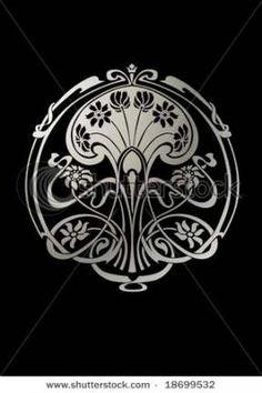 Art nouveau tattoo floral black 41 Ideas for 2019 Motifs Art Nouveau, Azulejos Art Nouveau, Design Art Nouveau, Motif Art Deco, Bijoux Art Nouveau, Art Nouveau Pattern, Art Nouveau Tiles, Tatoo Art, Art Nouveau Tattoo