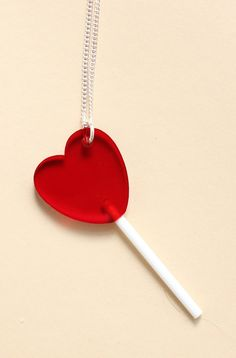 Tatty Devine Heart Lolly Necklace