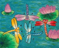 Elementary school art projects pastel by emily zou picture to pin on pinter Classroom Art Projects, School Art Projects, Art Classroom, Middle School Art, Art School, High School, 2nd Grade Art, Grade 2, Dragonfly Art