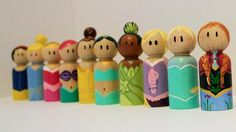 Handmade Disney Princess Peg People Collection, $87.50   18 Products For Hardcore Disney Princess Fans