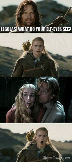 A diversion!!  Haha. Game of Thrones and LOTR