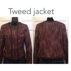 Jackets buy 1 get 1 free Tweed jacket Shades of brown.- great condition. Zips up front. Jackets & Coats
