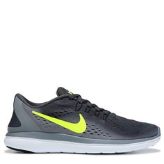 16c95a2647b4d Nike Mens Flex 2017 RN Running Shoes (Grey Black Volt)