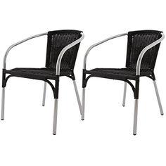 Lot de 2 Fauteuils Venetie - couleur Noir fauteuil de jardin / terrasse en Aluminium/Polyrotin Pour en savoir + suivez ce lien : https://www.pifmarket.com/boutique/jardin-et-exterieur/lot-de-2-fauteuils-venetie-couleur-noir-fauteuil-de-jardin-terrasse-en-aluminiumpolyrotin/