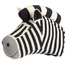 anne-claire petit Häkeltier Zebrakopf, schwarz-weiß