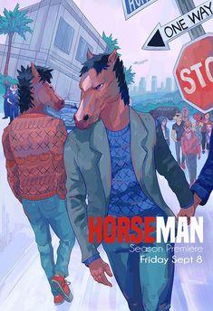 Mad Horseman New Season Illustration Art Print Poster Cartoon Network, Bojack Horseman, Best Series, Cultura Pop, Animation Series, Looks Cool, Movies Showing, Character Art, Poster Prints