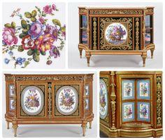 Comodas Rococó: Cabinet creado por Adam Weisweiler en 1785-95; Cabinet creado por Martin Carlin alrededor de 1783 | Royal Collection Trust