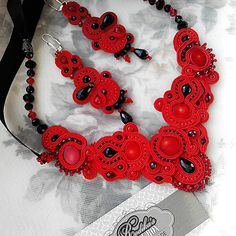 #soutache #necklace #earrings #handmade #сутаж