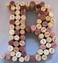 Recycled Cork Monogram Letter - B