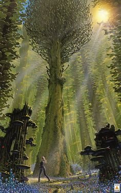 Druids Trees:  Tim White. Reminds me of Valmorax in SHELBY AND SHAUNA KITT AND THE DIMENSIONAL HOLES.