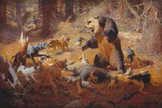 A Close Call, 1914. Oil on canvas, 40 1/2 x 60 1/2. Gilcrease Museum, Tulsa.