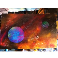 #spraypaint #space #galaxy #universe #planets #stars #art #shepardsketches