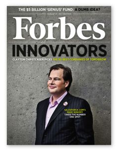 Salesforce at top of innovation chart by Forbes continuously over the years Centelon