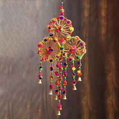 Door Hanging Decorations, Diy Diwali Decorations, Diy Hanging, Ganesh Chaturthi Decoration, Diwali Diy, Diwali Craft, Fancy Envelopes, Rustic Wedding Backdrops, Wedding Decor