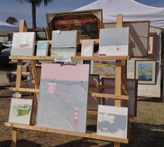 I participated in my first juried outdoor art show this past Sunday, The Flagler Fine Arts Festival . Craft Show Booths, Craft Show Displays, Craft Show Ideas, Display Ideas, Booth Displays, Booth Ideas, Pallet Display, Vendor Displays, Vendor Booth