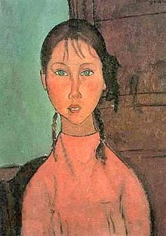 Amedeo Modigliani.   Girl In Pink