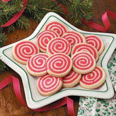 Peppermint pinwheel cookies - I love mint flavored cookies!