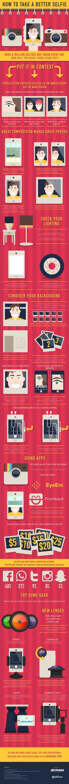How To Take A Perfect Selfie That Rock On Social Networking Sites - #infographic #socialmedia #Selfie