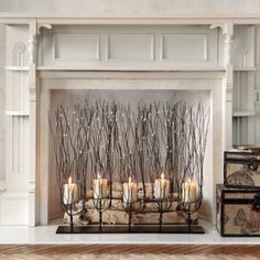 9 Outstanding Tips: Fireplace Mantle Black corner fireplace design.Fixer Upper Fireplace In Middle Of Room faux fireplace tile.Fireplace With Tv Above Furniture Arrangement. Candles In Fireplace, Fake Fireplace, Decorative Fireplace, Fireplace Ideas, Fireplace Design, Electric Fireplace, Faux Fireplace Insert, Fireplace Candle Holder, Fireplace Drawing