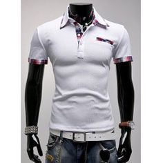 SHARE & Get it FREE | Fashion Turndown Collar Slimming Color Block Checked Splicing Short Sleeve Polyester Polo T-Shirt For MenFor Fashion Lovers only:80,000+ Items • FREE SHIPPING Join Twinkledeals: Get YOUR $50 NOW!