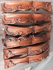 Group Antique Hand Carved Wood Fragments French Louis XVI Moldings Baroque
