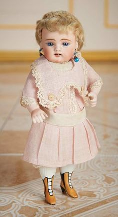 German All-Bisque Miniature Doll, Model 102, with Painted Yellow Boots 1200/1700 Auctions Online | Proxibid