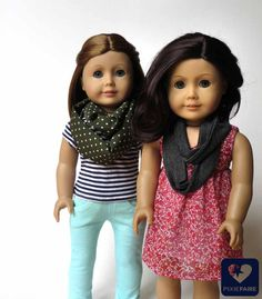 Easy infinity scarf tutorial for dolls | Pixie Faire