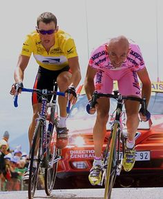 Lance Armstrong letting Marco Pantani win on the Mont Ventoux during the Tour de France in 2000.