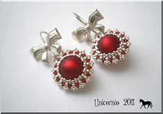 (This is so nice looking! Beaded Earrings Patterns, Seed Bead Earrings, Diy Earrings, Earrings Handmade, Handmade Jewelry, Beaded Rings, Beaded Jewelry, Beaded Bracelets, Tatting Jewelry