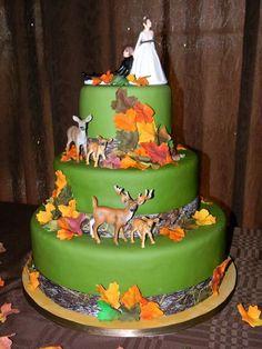 fall autumn outdoor wedding cake littlecakesontheprairie.com