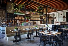 The Grounds of Alexandria café by Caroline Choker, Sydney bar and restaurant Decoration Restaurant, Deco Restaurant, Restaurant Design, Thailand Restaurant, Rustic Cafe, Rustic Decor, Rustic Colors, Rustic Theme, Rustic Signs