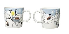 Moomin mug Winter 2012 by Arabia Finland, named Winter Forest