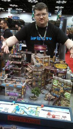 Infinity GenCon Demo in a nutshell - Part 1 - Bell of Lost Souls Warhammer Terrain, 40k Terrain, Game Terrain, Wargaming Terrain, Infinity The Game, Cyberpunk City, Game Workshop, Tabletop Games, Miniture Things
