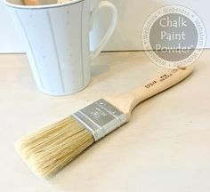 "Chalk Pro Easy Paint Brush- Medium. Our Chalk-Pro brushes have all natural china bristles and contoured beaver-tail handles. Extra thick bristles. Asst sizes. The small and medium brushes are the perfect size for those little sample size pots of paint. Our large size is perfect for large, flat surfaces. Compare to Wooster or Purdy!  8 1/4"" long x 1 1/2"". Bristles are 2"" long. $4.99"
