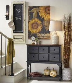 Make a great first impression by adding a decorative touch to your entryway. You usually don't have a lot of room, so it only will take a few unique pieces to pull off a look that is charming and welcoming to your guests. Be sure to include a practical element too so that everyone can use it as a first stop whenever they come home.
