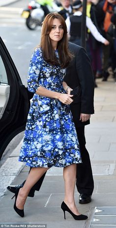 Today Kate opted for a design with three quarter length sleeves, a fitted top and A line s...