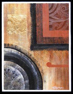 Tihei Mauri Ora series #6 Robin Slow Maori Art painting new zealand kura contemporary art gallery