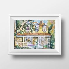Wall Art Watercolor Dragonfly Inn. Print,Gilmore girls,Lorelai and Rory,Tv Show Poster,Luke's Diner,Gilmores,Lorelai Gilmore,Luke Danes