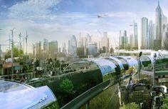 A green future - the New London Skyline - Yanko Design Architecture Design, Green Architecture, Futuristic Architecture, Minimalist Architecture, Futuristic City, Futuristic Design, Future City, Ville Durable, Games Design