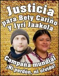 Jornada Internacional por la Justicia a cuatro años del asesinato de Bety Cariño y Jyri Jaakkola