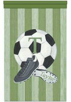 Vintage Soccer Personalized Wall Hanging