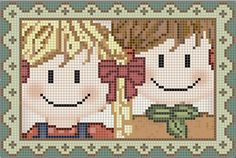 Photo by Arte India Cross Stitch For Kids, Cross Stitch Love, Cross Stitch Embroidery, Cross Stitch Patterns, Stitch Doll, African Flowers, Tapestry Crochet, Filet Crochet, Hama Beads