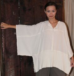 inspiration - OH MY GAUZE Cotton JOYCE Lagenlook Tunic Poncho Top OSFM M/L/XL/1X u-chz COLOR | eBay