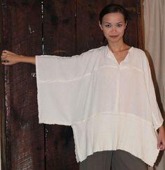 inspiration - OH MY GAUZE Cotton JOYCE Lagenlook Tunic Poncho Top OSFM M/L/XL/1X u-chz COLOR | eBay