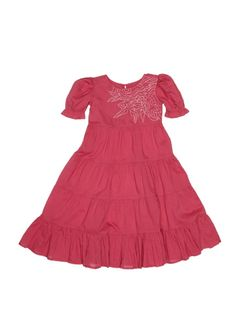 Tiered Embroidery Dress, Saurette $49